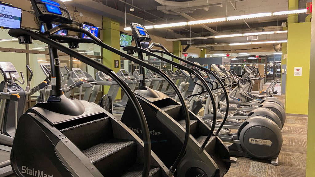 Titans Cardio Area with Stair Masters and Treadmills