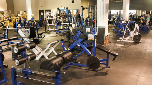 Titans Mentor Gym Floor with Free Weight Machines