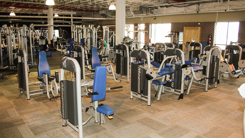 Titans Mentor Gym Floor with Weight Machines